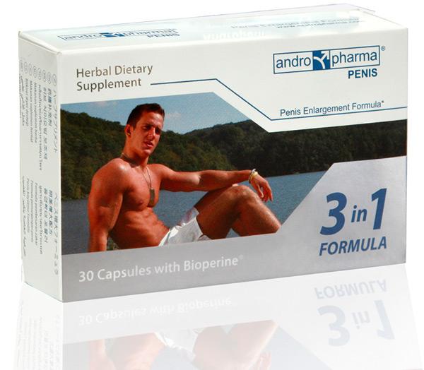 Andropharmia penis is een penis verbetering supplement bedoeld voor gebruik met een  penisverlenger....