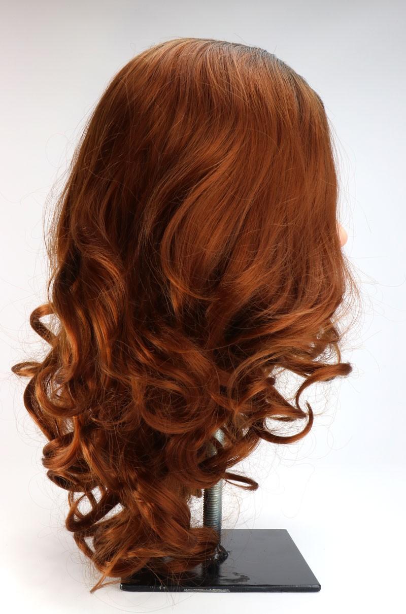 Premium pruik rode krullen ginger ombre