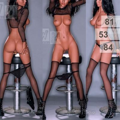 WM love doll 166 cm C cup realistisch figuur alle kanten