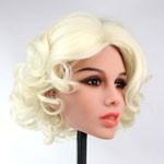 Kort blond krullen - +€50,00