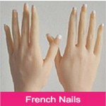 Franse Manicure (wit met roze)