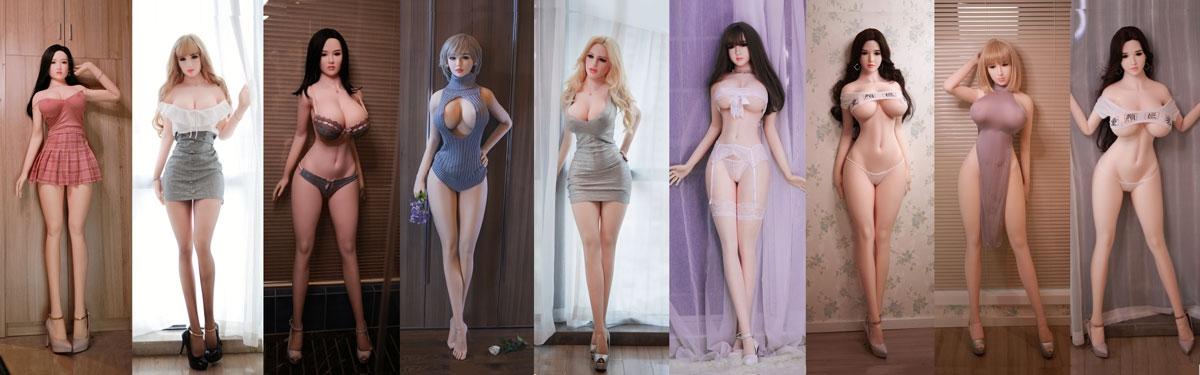 Sex doll met kleding